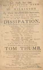 The Theatre playbill 1781
