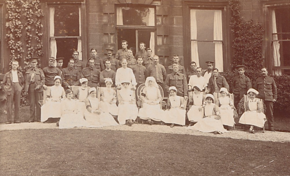 VAD nurses and patients, July 17th 1915