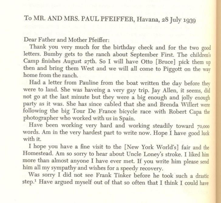 Excerpt from 'A Selection of his Letters'