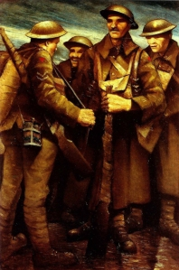'Images of wartime', A Group of Soldiers by C. R. W. Nevinson.
