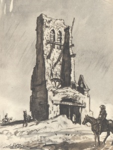 'The Western Front', The Ruined Tower of Becordel-Becourt.