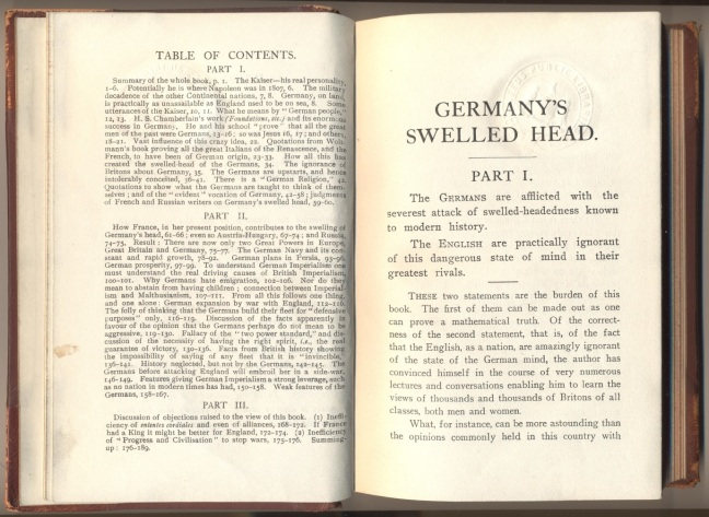 Germany's Swelled Head