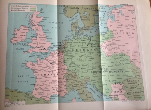 Map showing alliances across Europe, 1915