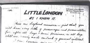 Little London as I knew it