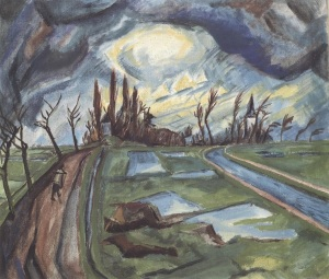 'A bitter truth: avant-garde art and the Great War', Springtime in Flanders by Erich Heckel.