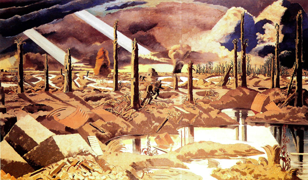 'Images of wartime', The Menin Road by Paul Nash.
