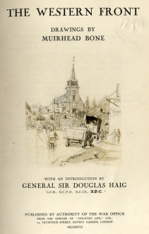 The Western Front, drawings by Muirhead Bone
