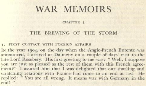 War Memoirs