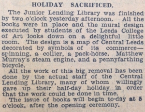 Article, 'Holiday sacrificed'