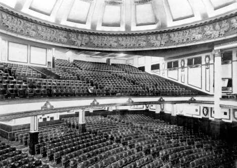 Interior showing the seating, 1923