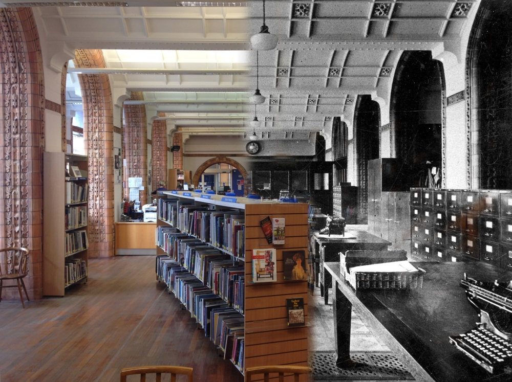Another view of the current Art library, then and now