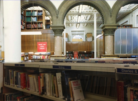 Looking towards the current Children's library