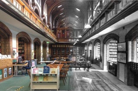 Current Local and Family History library, then and now