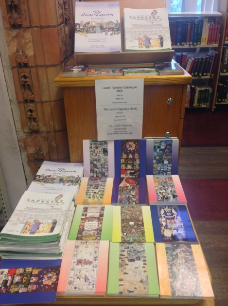 The Leeds Tapestry books available to purchase in the Art Library