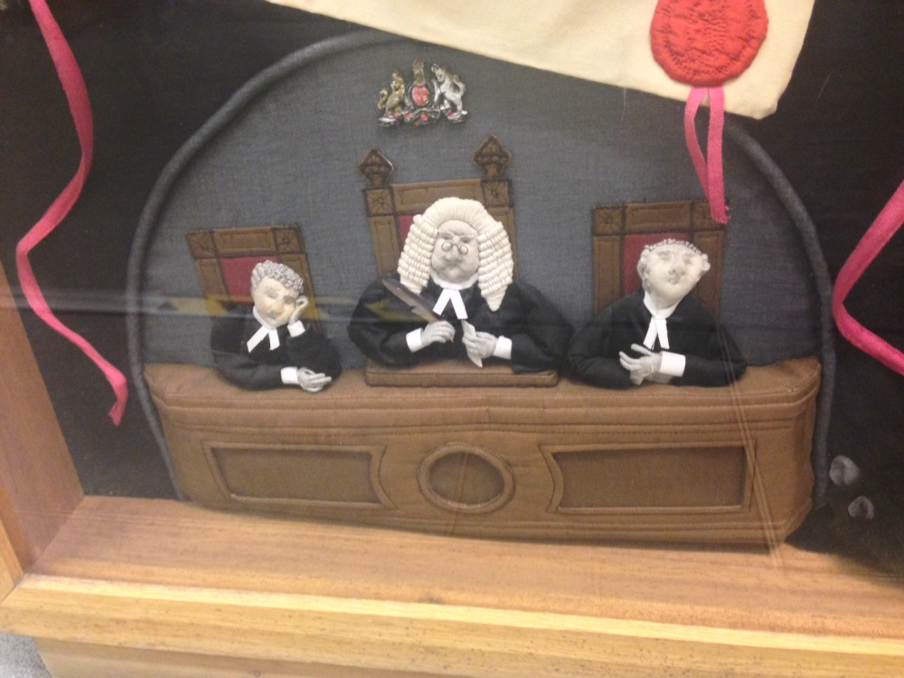 Three Judges, detail from Pro Rege et Lege panel