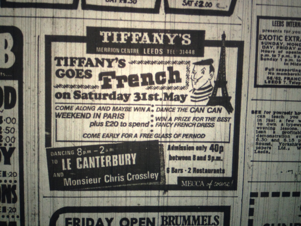 Advert for Tiffany's
