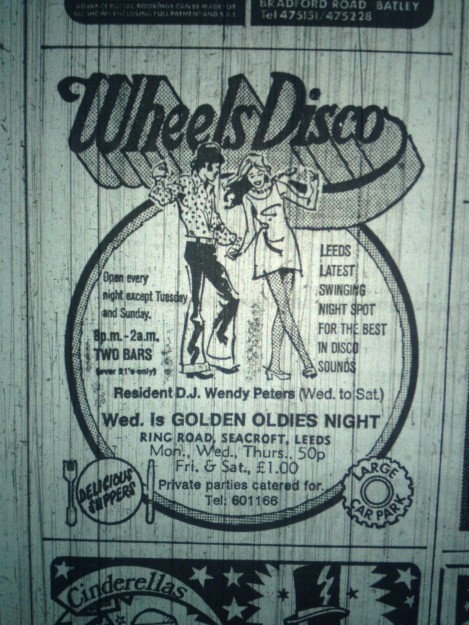 Wheels Disco advert