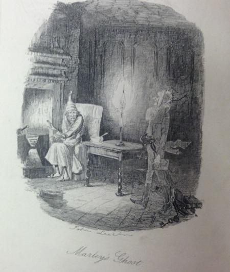 Edwin Landseer illustration from 'A Christmas Carol'