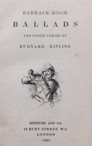 Front-piece from Kipling's Barrack-Room Ballads – part of the Gascoigne Collection