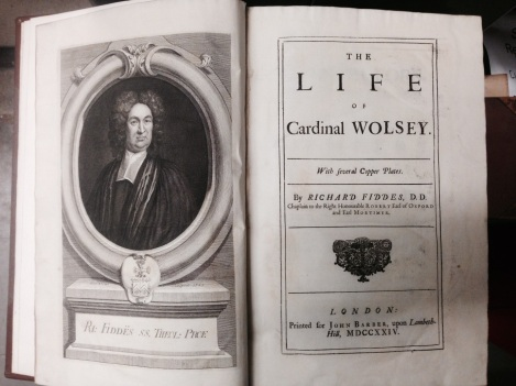 Front-piece of Fiddes' Life of Cardinal Wolsey (1726)