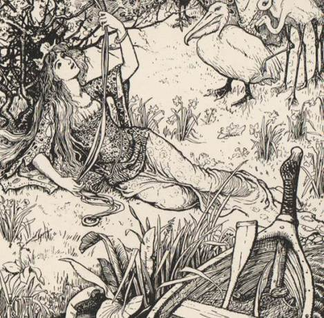 Illustration from Andrew Lang's 1889 Blue Fairy Book
