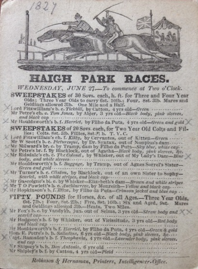 Race Ground 1827 card