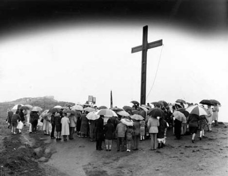 Easter service on Otley Chevin