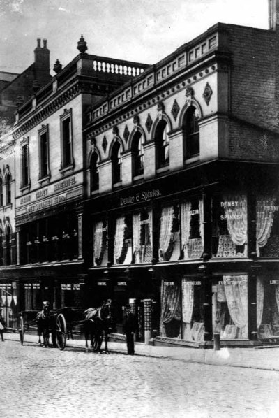 Originally the Music Hall, seen here c.1900 as Denby and Spinks