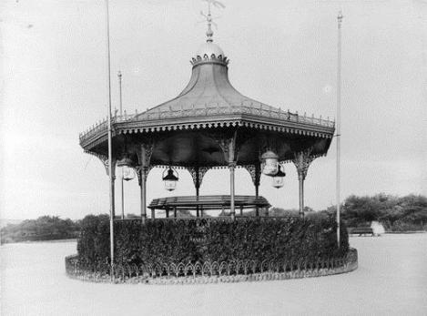 Woodhouse Moor bandstand, scene of many a 19th-century summer concert (1885)