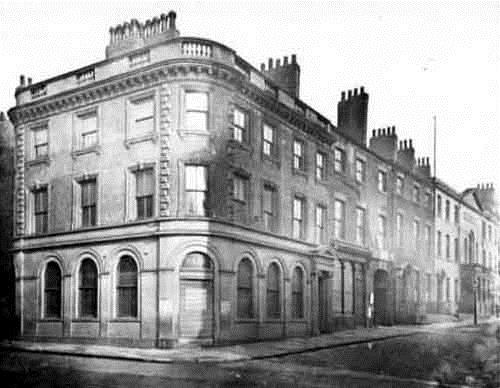 Image showing the west side of Albion Street at the junction with Bond Street, 1882