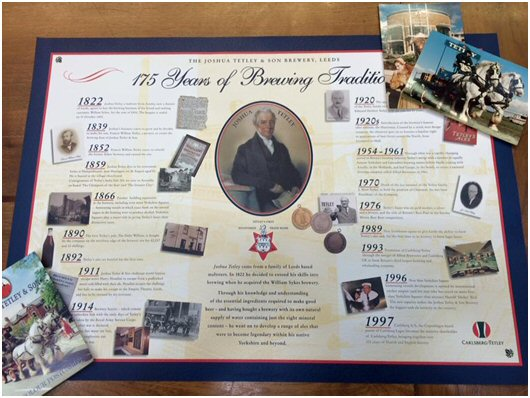 A Tetley's timeline, taken from our Local History stock