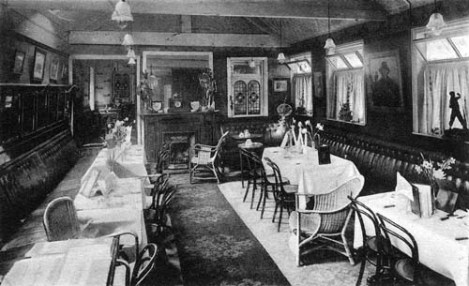 The interior of Whitelocks pub, little changed since 1880, where the Three Peaks Club began its night on the town with dinner.