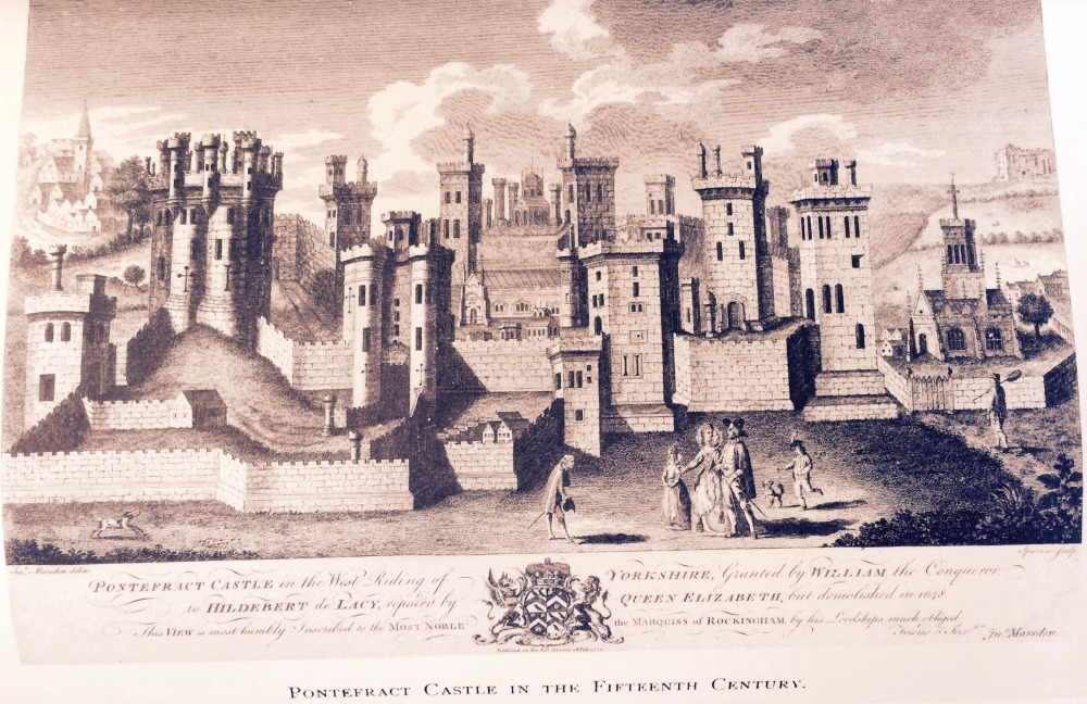 Reproduction of Pontefract Castle in the 15th-century. Taken from Lorenzo Padgett's Chronicles of Old Pontefract