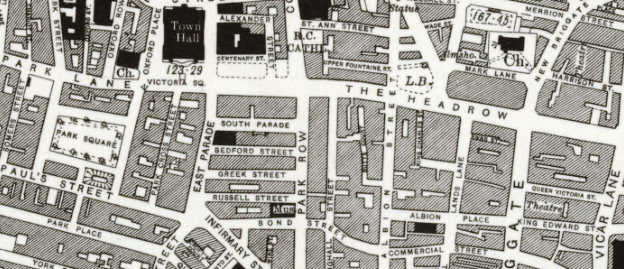 Detail from the 1933 6-inch-to-the-mile Ordnance Survey map for Leeds