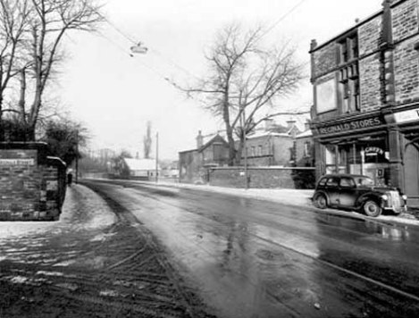 2nd February 1954 View from Reginald Street junction across Chapeltown Road to number 176, Reginald Stores on the corner with Back Newton Grove. Taken from www.leodis.net