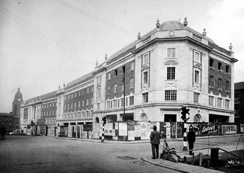 The same corner in 1931. Image taken from Leodis