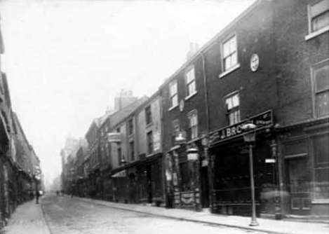 View of what was then called Lowerhead Row, July 1891. Image taken from our Leodis photograph archive