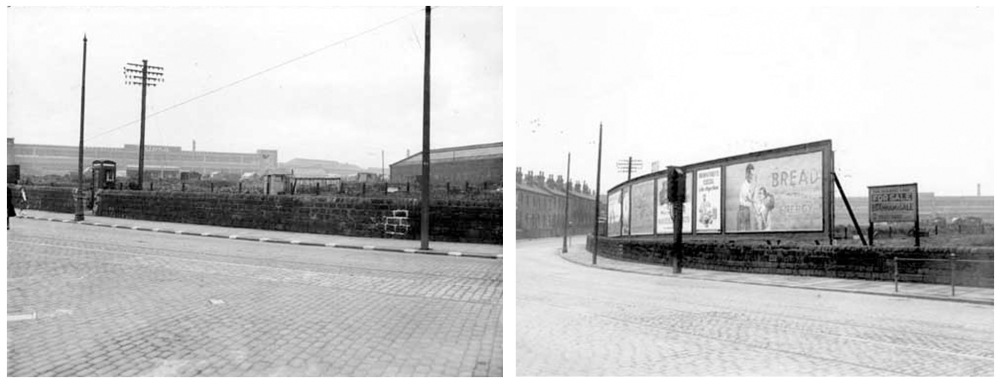 views from the Wakefield Road junction, showing the size of the Waddington's factory in the background, 1930s