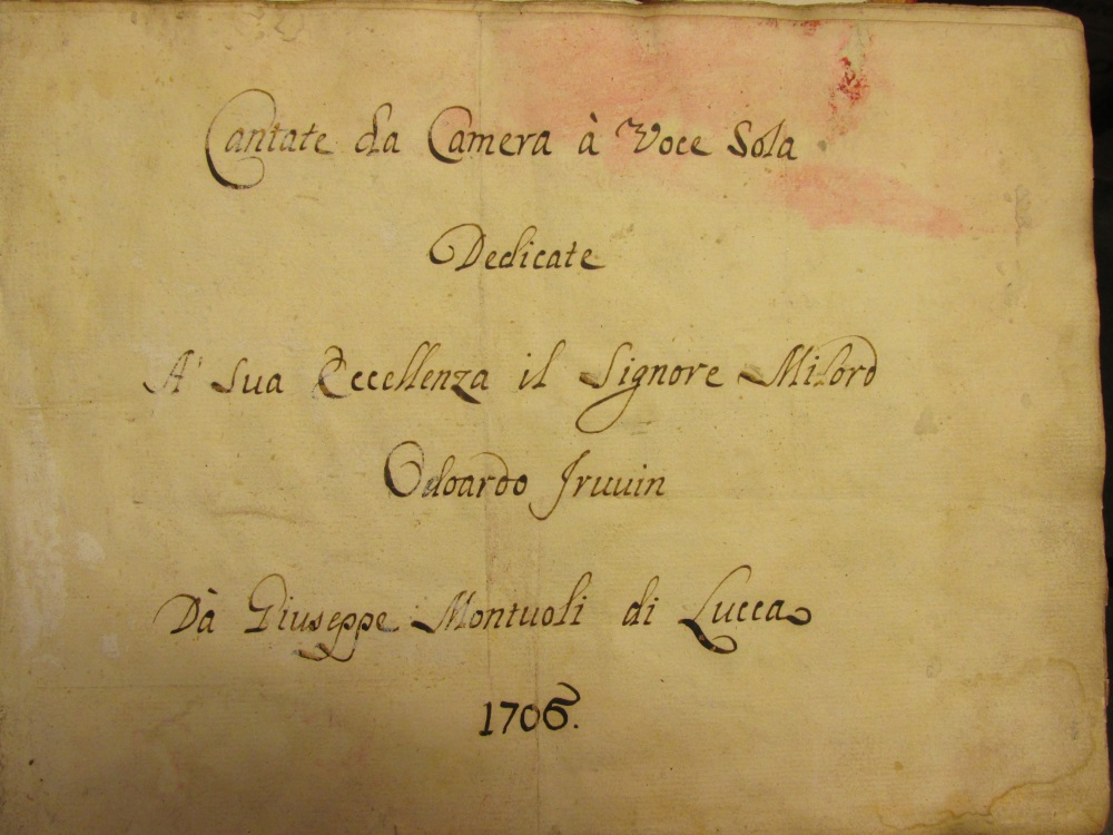 Montuoli title page