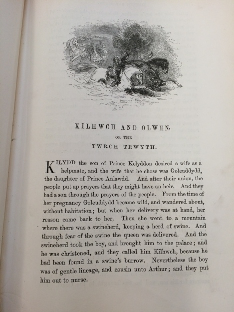 Image showing the first part of Culhwch and Olwen's story, about a hero connected to King Arthur
