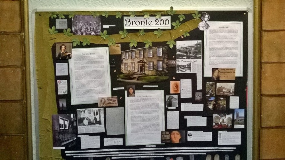 Display of relevant materials in our Local and Family History department