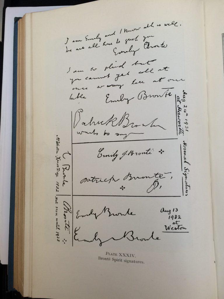 """Plate XXXIV of Tweedales book: """"Brontë Spirit Signatures"""""""