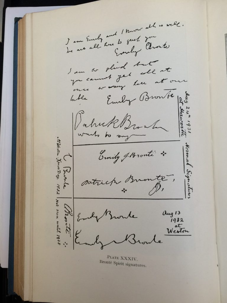"Plate XXXIV of Tweedales book: ""Brontë Spirit Signatures"""