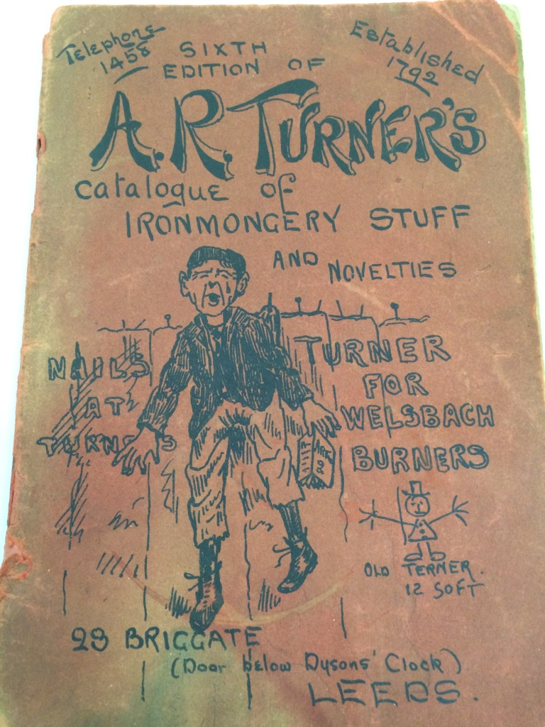 The 1903 catalogue for A.R. Turner's Ironmongery store