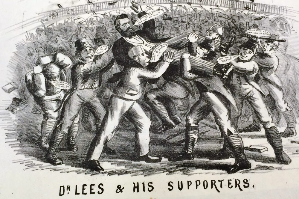 """ Dr Lees and His Supporters"". 1874 cartoon"