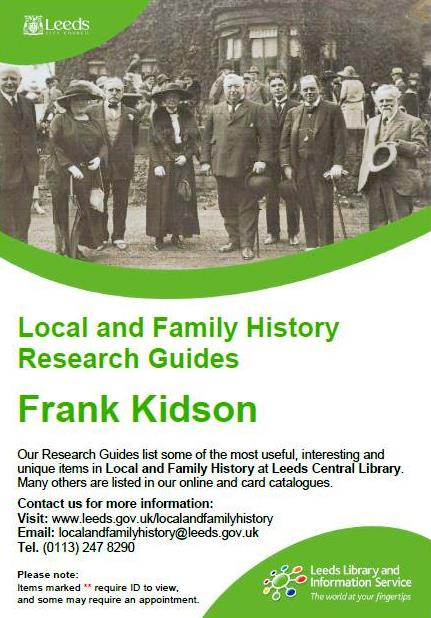 frank kidson research guide
