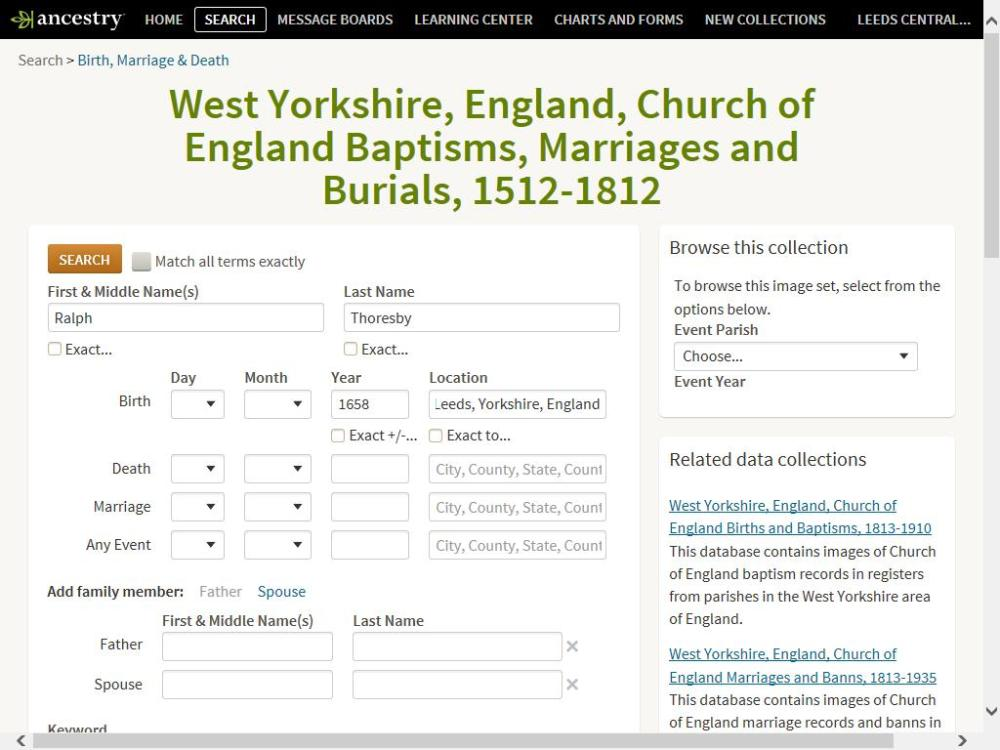 Searching Parish Registers - digital style
