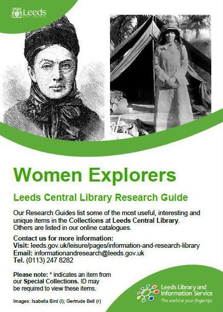 women explorers research guide