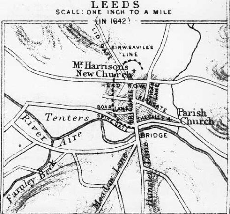 Map of the battlefield. Reproduced from the Discovering Leeds website.