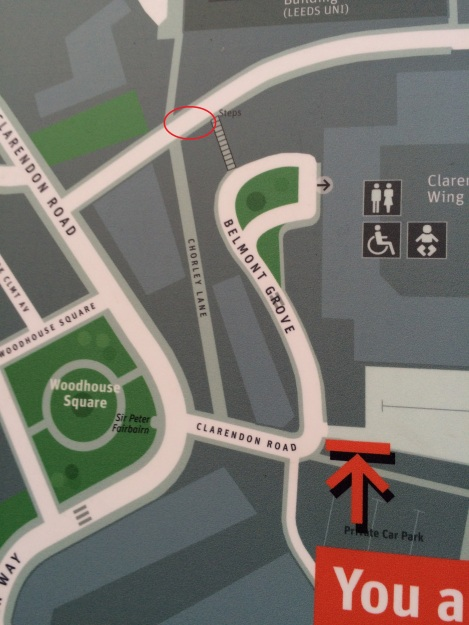 Street map, near Centaur House. The location of the cottages is shown.